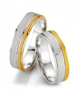 obrączki z białego i żółtego złota
