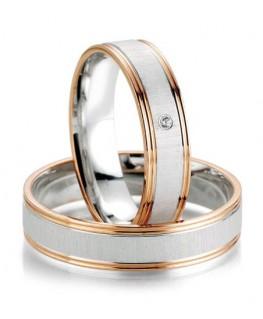 obrączki z białego i różowego złota