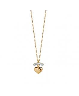 Naszyjnik złoty serce