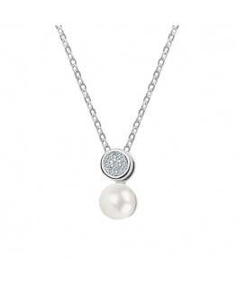 Naszyjnik srebrny z perłą