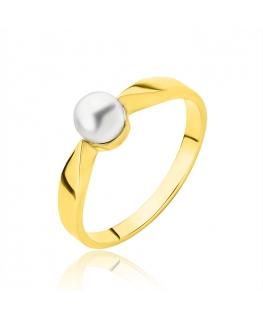 Pierścionek Złoty z perłą